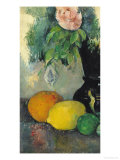 Flowers and Fruit, circa 1886 Premium Giclee Print by Paul Cézanne