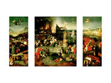 Triptych: the Temptation of St. Anthony Giclée-Druck von Hieronymus Bosch