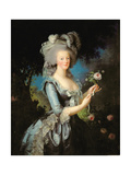 Marie Antoinette (1755-93) with a Rose, 1783 Reproduction procédé gicléeElisabeth Louise Vigee-LeBrun