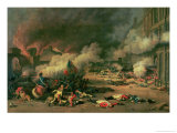 Taking of the Tuileries, Court of the Carrousel, 10th August 1792 Giclee Print by Jean Duplessi-Bertaux