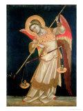 An Angel Weighing a Soul, circa 1348-55 Giclée-tryk af Ridolfo di Arpo Guariento