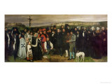 Burial at Ornans, 1849-50 Giclee Print by Gustave Courbet