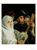 An Elegant Couple from Madrid, circa 1770 Premium Giclee Print by Lorenzo Baldissera Tiepolo