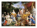 The Family of Louis XIV (1638-1715) 1670 Reproduction proc&#233;d&#233; gicl&#233;e par Jean Nocret