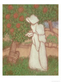 Woman in a White Dress, 1896 Gicleetryck av Jozsef Rippl-Ronai