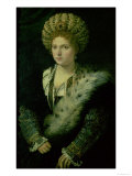 Portrait of Isabella D'Este (1474-1539) Giclee Print by  Titian (Tiziano Vecelli)