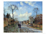 The Road to Louveciennes, 1872 Reproduction giclée Premium par Camille Pissarro