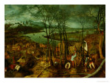 The Gloomy Day, Spring, 1559 Reproduction proc&#233;d&#233; gicl&#233;e par Pieter Bruegel the Elder
