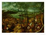 The Gloomy Day, Spring, 1559 Giclée-Druck von Pieter Bruegel the Elder