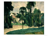The Road at Pontoise, 1875 Giclee Print by Paul Cézanne