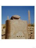 Sacred Scarab Statue in the Temple of Amun, Erected by Amenhotep III Giclee Print