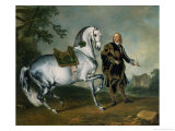 "The Dappled Horse ""Scarramuie"" En Piaffe Giclee Print by Johann Georg de Hamilton"