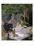 Dejeuner Sur L&#39;Herbe, Chailly, 1865 (Central Panel) Giclee Print by Claude Monet