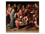 St. Diego of Alcala Giving Food to the Poor, 1645-46 Giclee Print by Bartolome Esteban Murillo