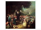 George Whitefield Preaching Giclee Print by John Collet