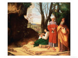 The Three Philosophers Giclee Print by Giorgione