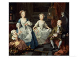 The Graham Children, 1742 Giclee Print by William Hogarth