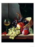 Grapes and Plums Giclee Print by Edward Ladell