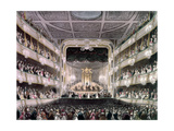Handel Playing the Organ, in the Covent Garden Theatre, from Ackermann's Microcosm of London Giclee Print