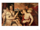 The Education of Cupid, circa 1565 Giclée-tryk af Titian (Tiziano Vecelli)