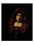 Portrait of an Old Woman Giclee Print by  Rembrandt van Rijn