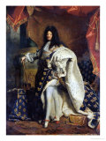 Louis XIV (1638-1715) in Royal Costume, 1701 Giclee Print by Hyacinthe Rigaud