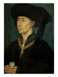 Portrait of Philip the Good (1396-1467) Duke of Burgundy Giclee Print by Rogier van der Weyden