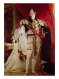 The Prince Regent, Later George IV (1762-1830) in His Garter Robes Giclée-tryk af Thomas Lawrence