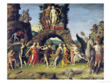 The Parnassus: Mars and Venus Giclee Print by Andrea Mantegna