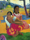 Paul Gauguin - Nafea Faaipoipo (When are You Getting Married?), 1892 Digitálně vytištěná reprodukce