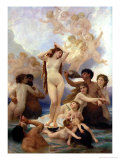 The Birth of Venus, 1879 Reproduction proc&#233;d&#233; gicl&#233;e par William Adolphe Bouguereau