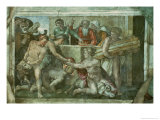 Sistine Chapel Ceiling: Noah after the Flood (Pre Restoration) Giclee Print by Michelangelo Buonarroti