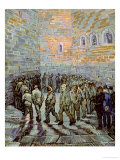 The Exercise Yard, or the Convict Prison, c.1890 Reproduction procédé giclée par Vincent van Gogh