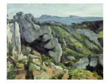 Rocks at L'Estaque, 1879-82 Giclee Print by Paul Cézanne