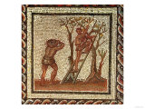 Picking Fruit, Roman Mosaic from Saint-Romain-En-Gal, France, AD 200-225 Giclee Print