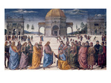 Giving of the Keys to St. Peter, from the Sistine Chapel, 1481 (Fresco) Giclee Print by Pietro Perugino