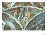 Sistine Chapel Ceiling: Haman (Spandrel) (Pre Restoration) Giclee Print by  Michelangelo Buonarroti