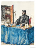 Venetian Moneylender, from an Illustrated Book of Costumes Reproduction proc&#233;d&#233; gicl&#233;e par Jan van Grevenbroeck