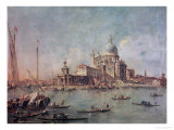 Venice, the Punta Della Dogana with Santa Maria Della Salute, circa 1770 Reproduction proc&#233;d&#233; gicl&#233;e par Francesco Guardi