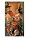 Federigo Da Montefeltro and His Son Guidobaldo Giclee Print by Juste de Gand