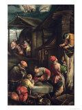 Winter, (The Butcher), 1585-90 Giclée-tryk af Francesco Bassano