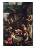 Winter, (The Butcher), 1585-90 Giclee Print by Francesco Bassano