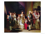 Charles IV (1748-1819) and His Family, 1800 Giclee Print by Francisco de Goya