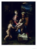 The Holy Family (La Perla) circa 1518 Giclee Print by  Raphael