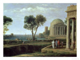 Landscape with Aeneas at Delos, 1672 Giclee Print by Claude Lorrain
