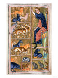 Adam Naming the Animals, of North Midlands Origin, 12th Century Giclee Print
