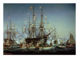 Queen Victoria&#39;s Visit to Cherbourg, 1858 Giclee Print by Jules Achille Noel