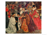 Queen Mary and Princess Elizabeth Entering London, 1553 Giclee Print by John Byam Shaw
