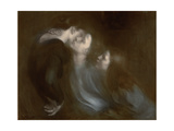 Her Mother's Kiss, 1890s Giclee Print by Eugene Carriere