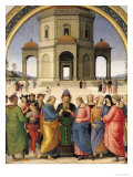 The Marriage of the Virgin, 1500-04 Giclée-tryk af Pietro Perugino